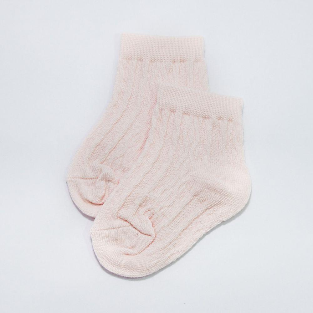 akachan honpo - 襪子-粉紅色麻花-粉紅色