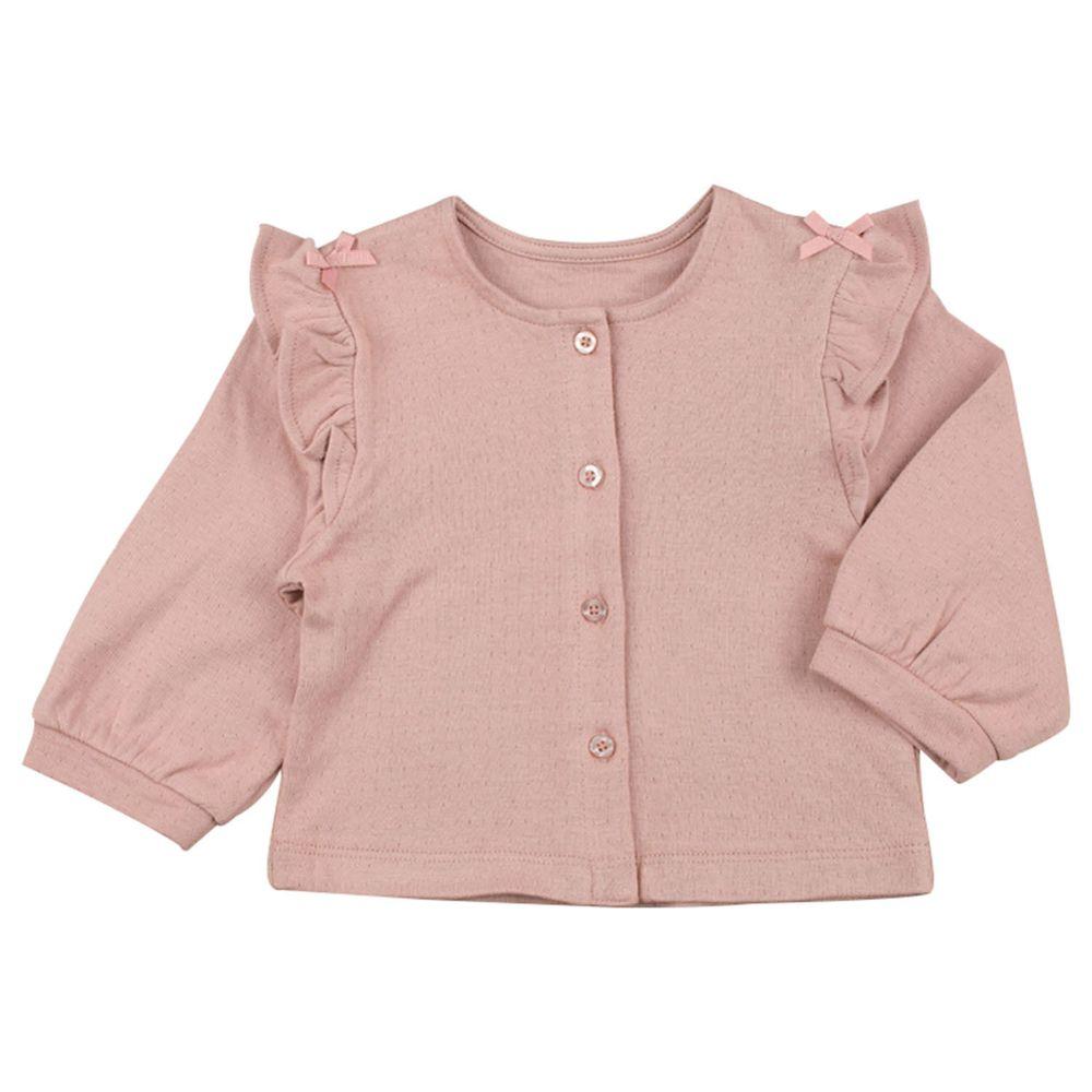 akachan honpo - 開襟外套-粉紅色