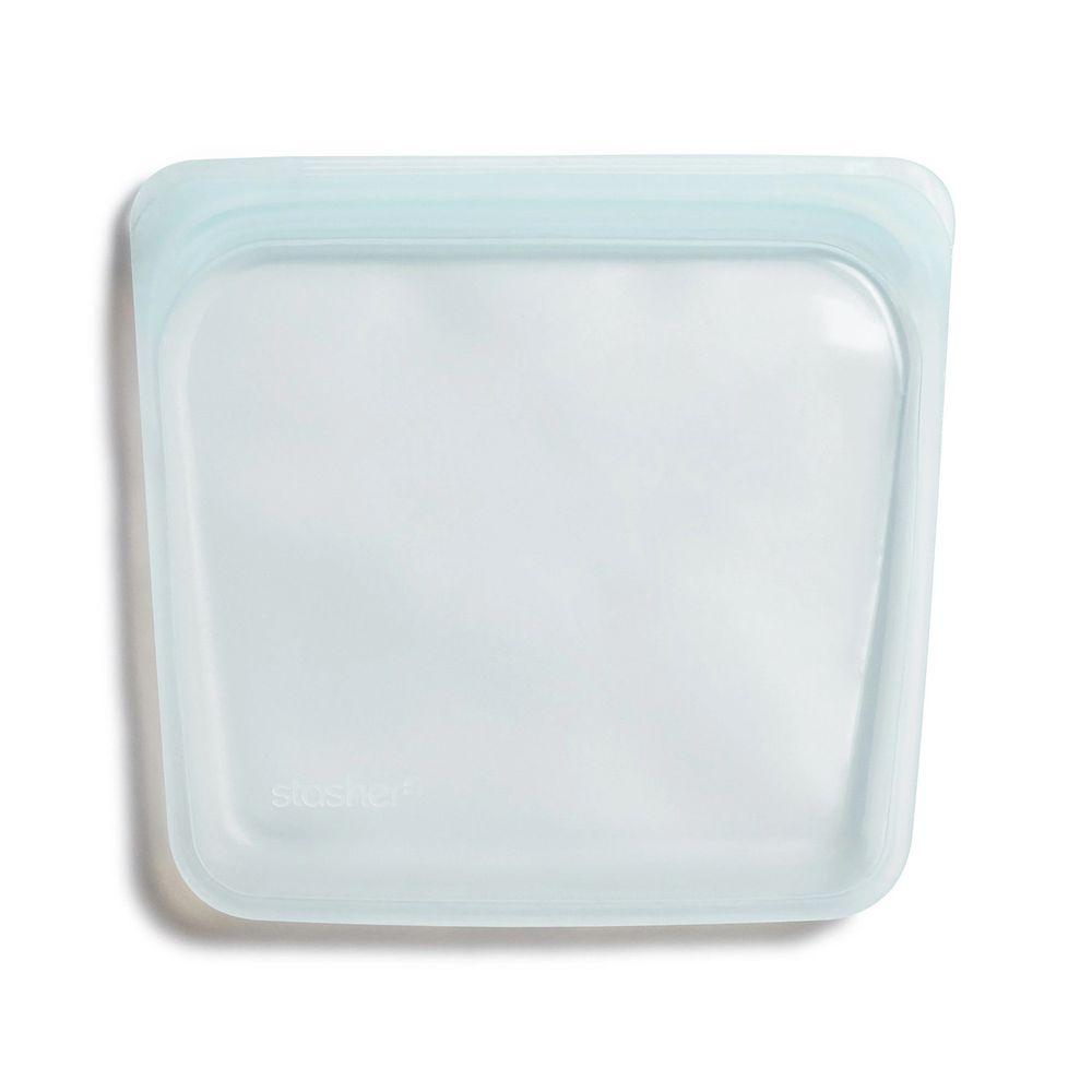 Stasher - 食品級白金矽膠密封食物袋-Sandwich方形-泡泡藍 (443ml)