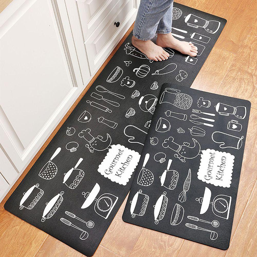 廚房仿皮革PVC防水腳踏墊-美味廚房