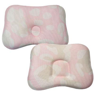 透氣嬰兒定型枕 0~18個月+透氣嬰兒定型枕 3~24個月-粉色