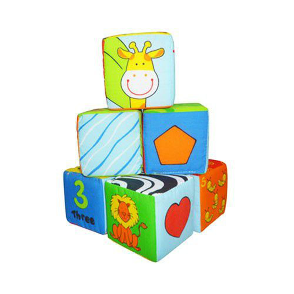 風車圖書 - 寶寶可愛動物布骰