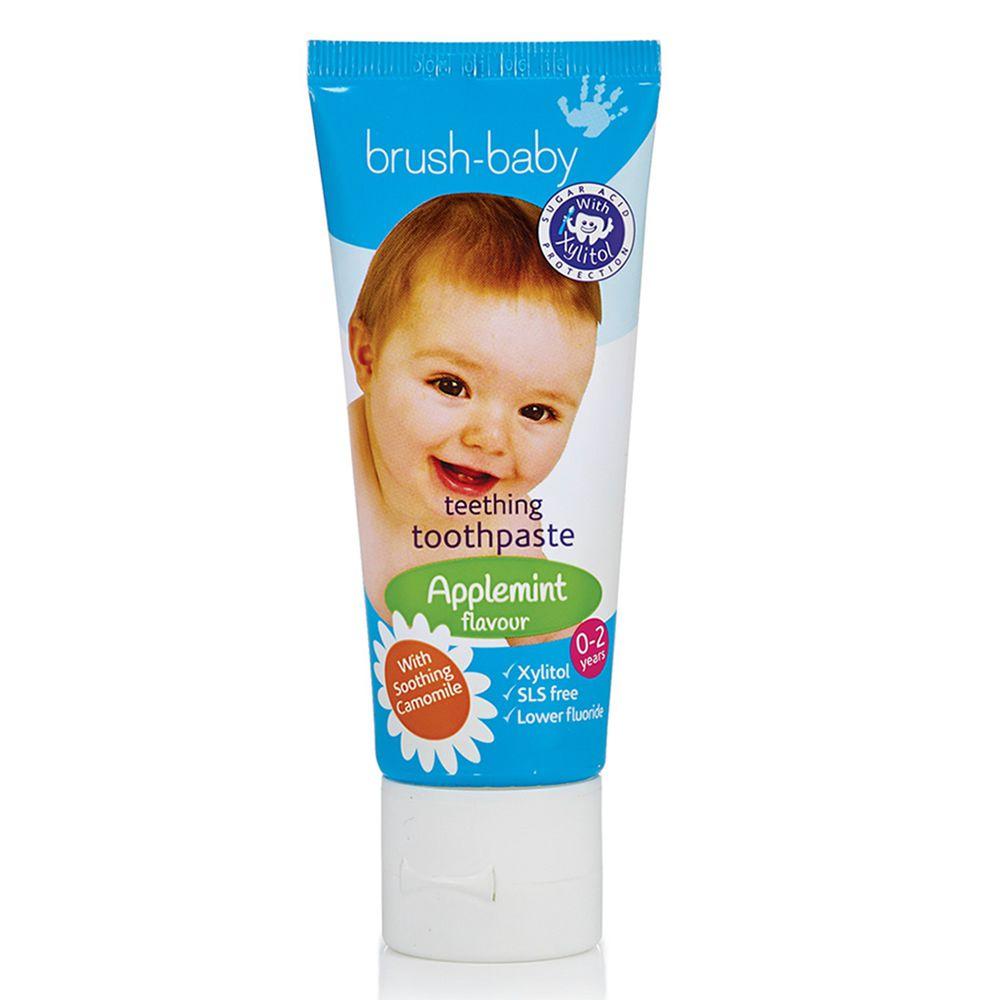 英國 brush-baby - 寶寶木糖醇牙膏(天然洋甘菊/50ml)-0-2歲用