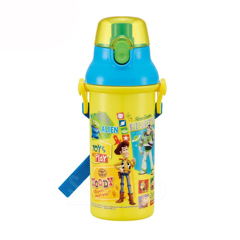 日本 SKATER - 兒童直飲冷水壺 (480ml)-玩具總動員-黃