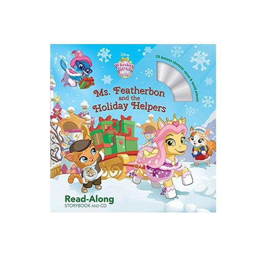 迪士尼系列CD有聲書-Ms. Featherbon and the Holiday Helpers 皇家寵物天堂-羽毛夫人及她的小幫手