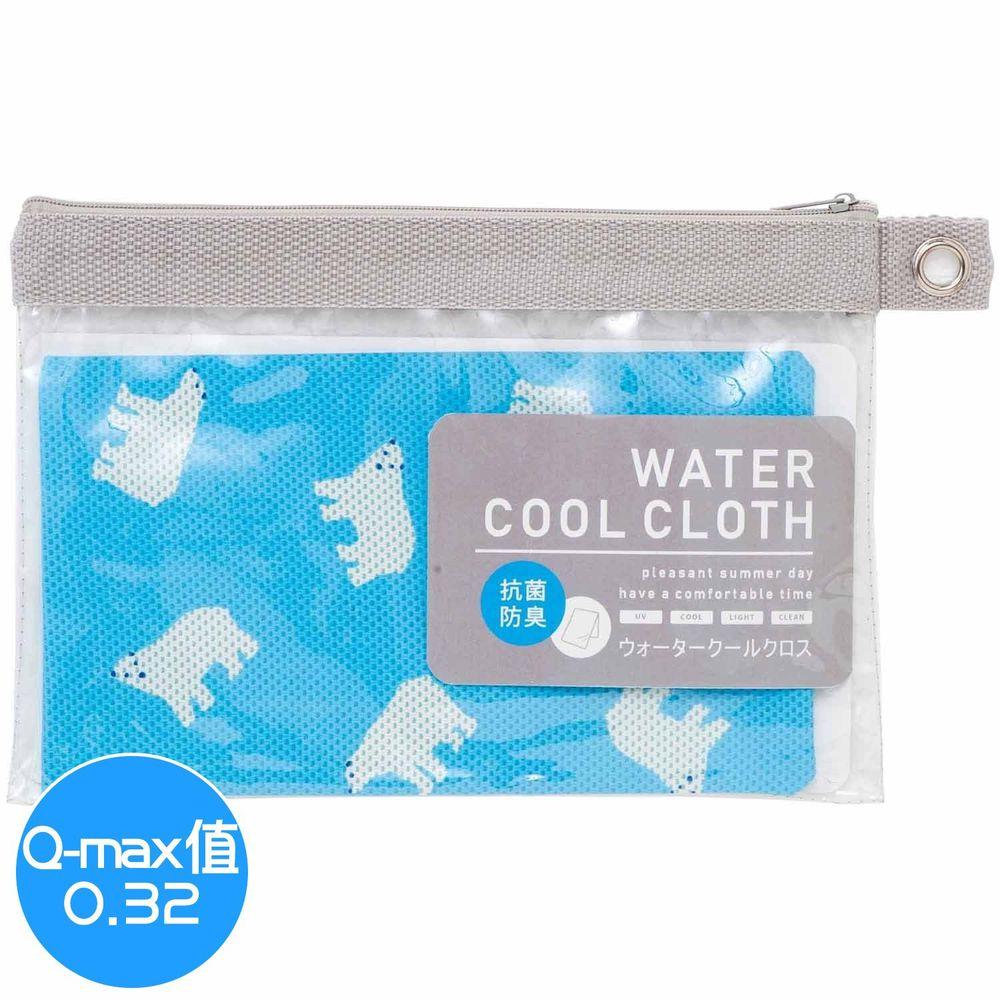 日本小泉 - UV cut 90% 水涼感巾(附收納袋)-北極熊20-藍 (30x90cm)