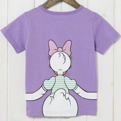 黛西抱抱純棉短袖T恤-兒童-紫