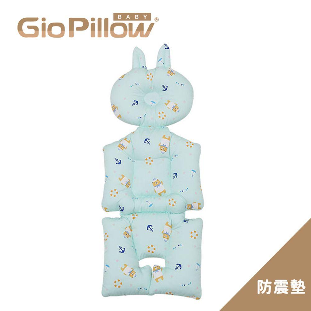 韓國 GIO Pillow - GIO雲感護頭型推車防震墊-水手熊藍