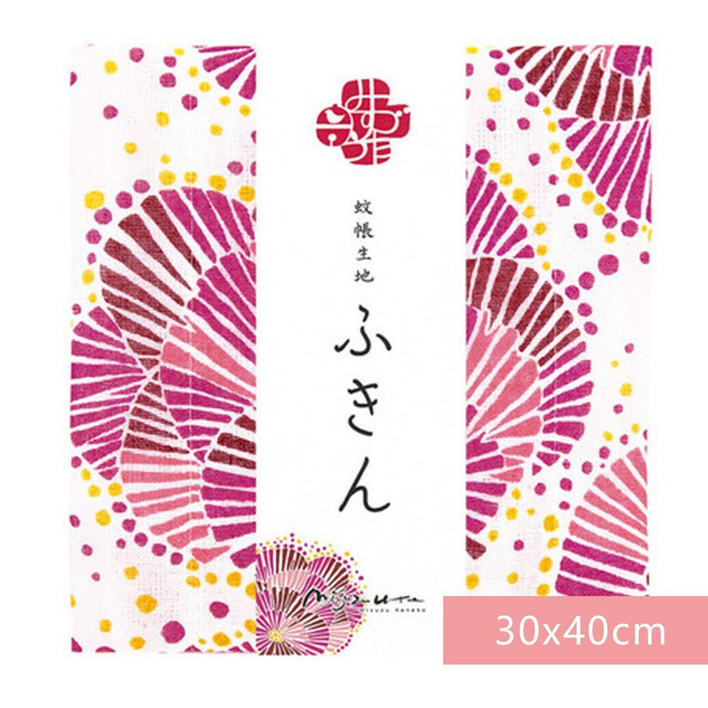 日本代購 - 【和布華】日本製奈良五重紗 方巾-花火 (30x40cm)