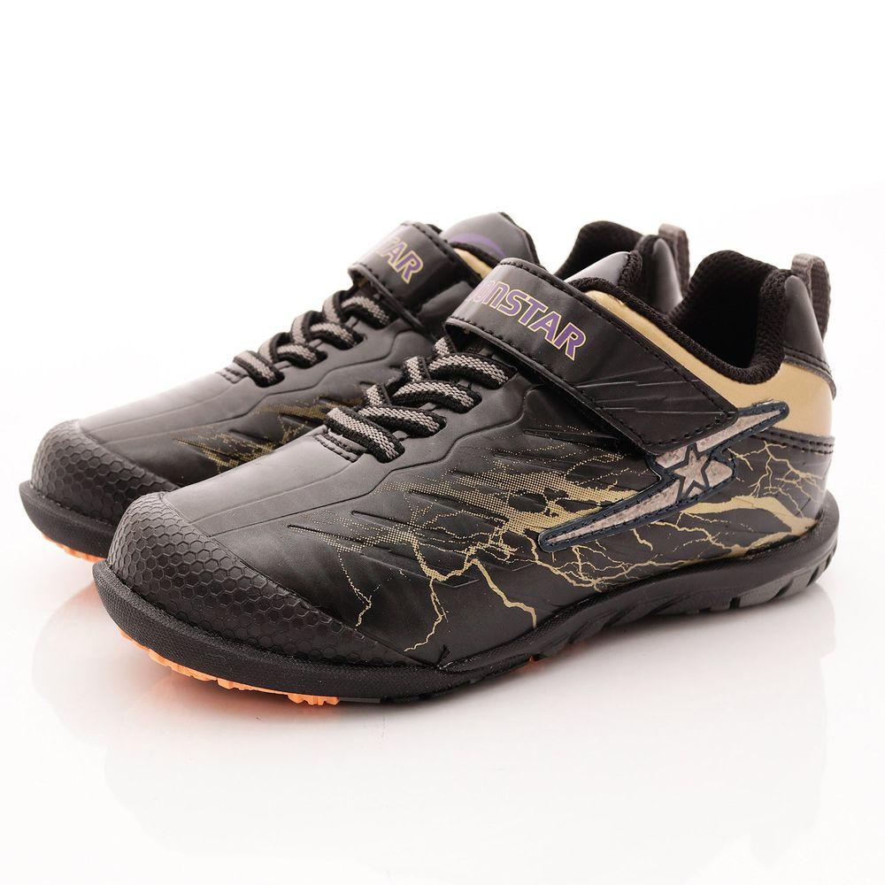 Moonstar日本月星 - 日本月星競速機能童鞋-多功能草地訓練鞋(中大童段)-黑