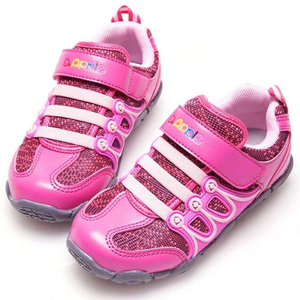 Dr. Apple - 機能童鞋-細緻雙色交織發光休閒童鞋-粉