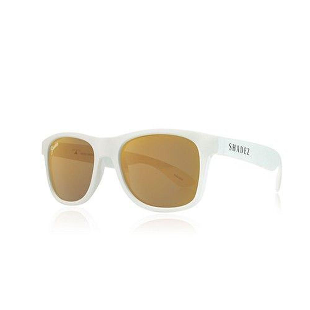 SHADEZ - 成人偏光太陽眼鏡-白框霧金