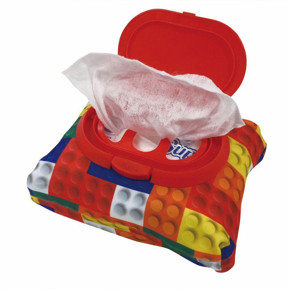 akachan honpo - 兩用FUTAP濕紙巾收納袋-積木