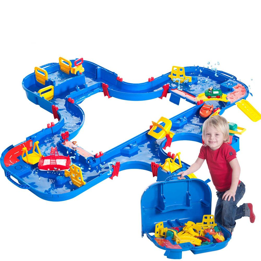 瑞典 Aquaplay - 【超級豪華版】漂漂河水上樂園玩具-544 ((152X162X22cm))