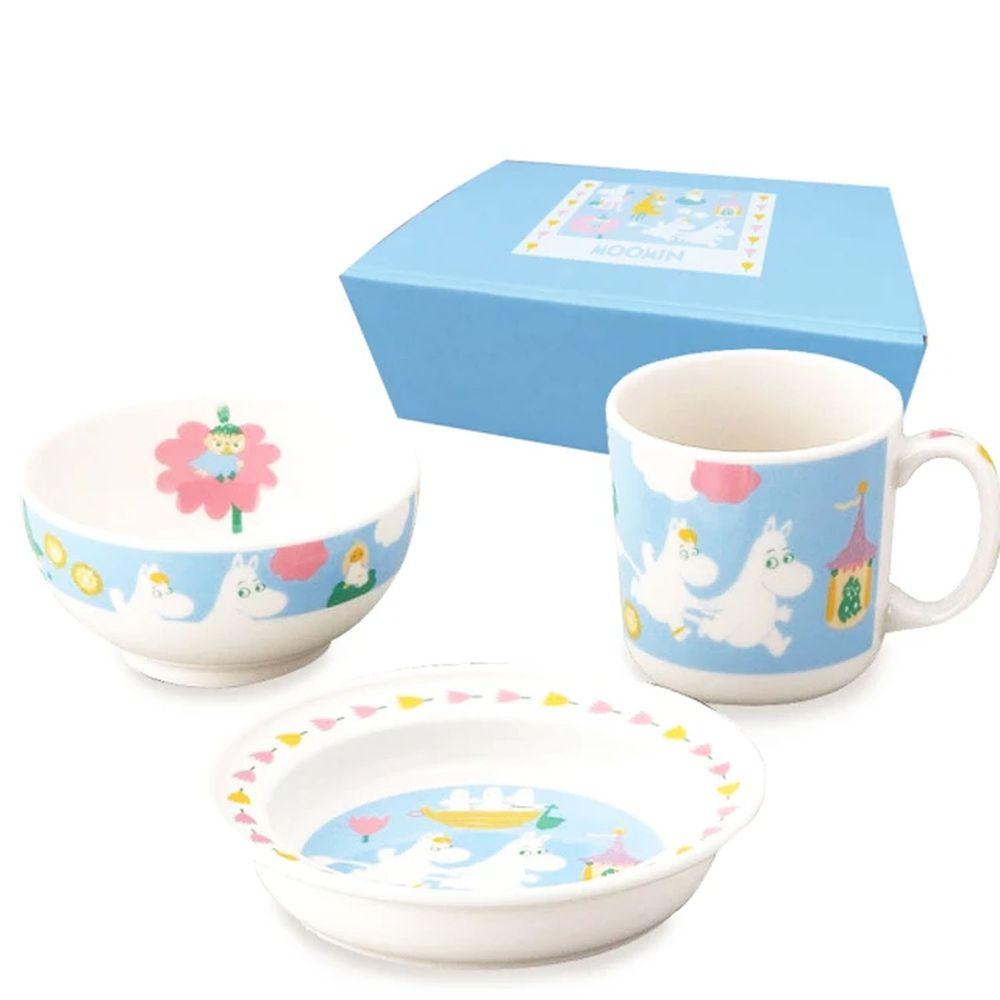 日本山加 yamaka - moomin 嚕嚕米彩繪陶瓷兒童餐具-MM1200-112-3入組