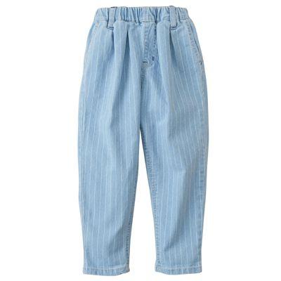 休閒老爺褲-水藍條紋