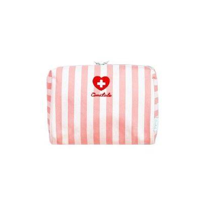 多用途立體收納袋-粉紅線條 (170*120*90mm)
