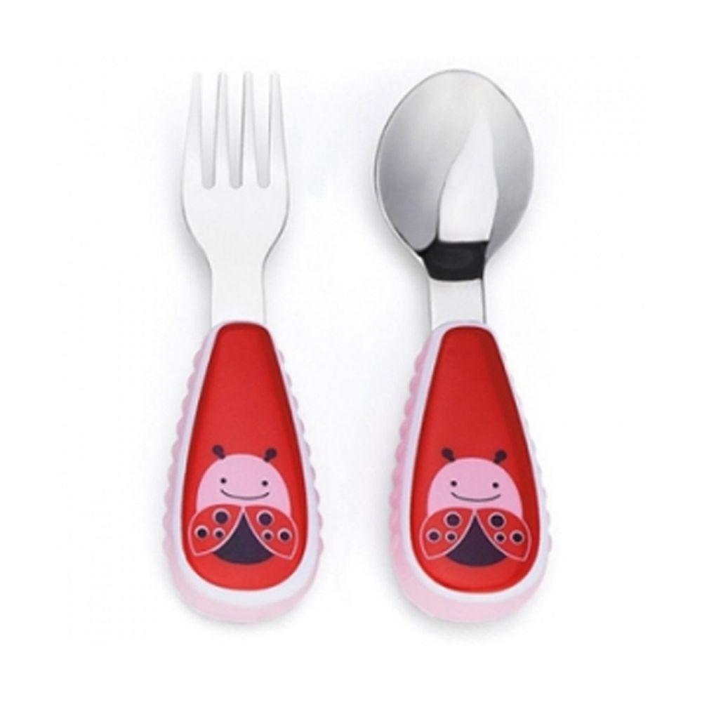 美國 SKIP*HOP - 餐具叉及匙-甲蟲