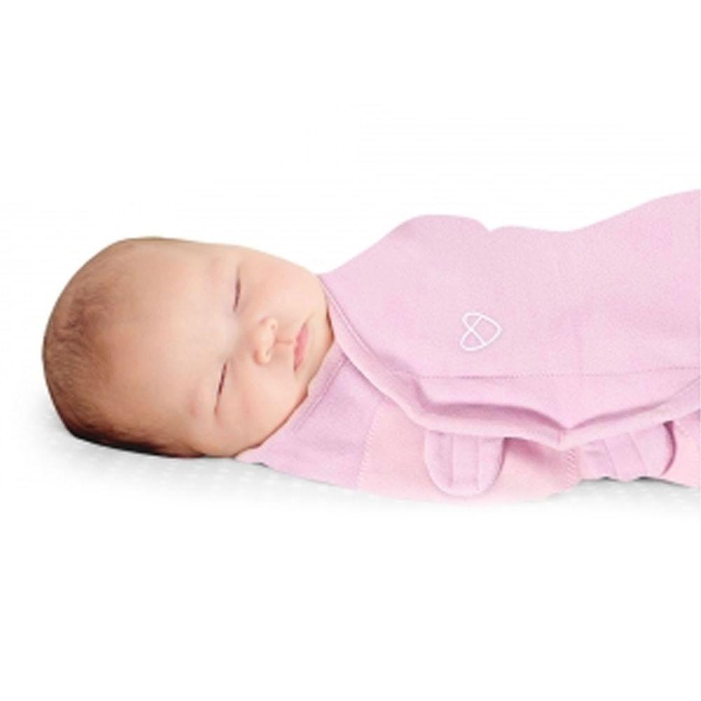 Summer Infant - 聰明懶人育兒包巾-溫暖款-刷毛絨布粉紅-適用年齡:0~3個月