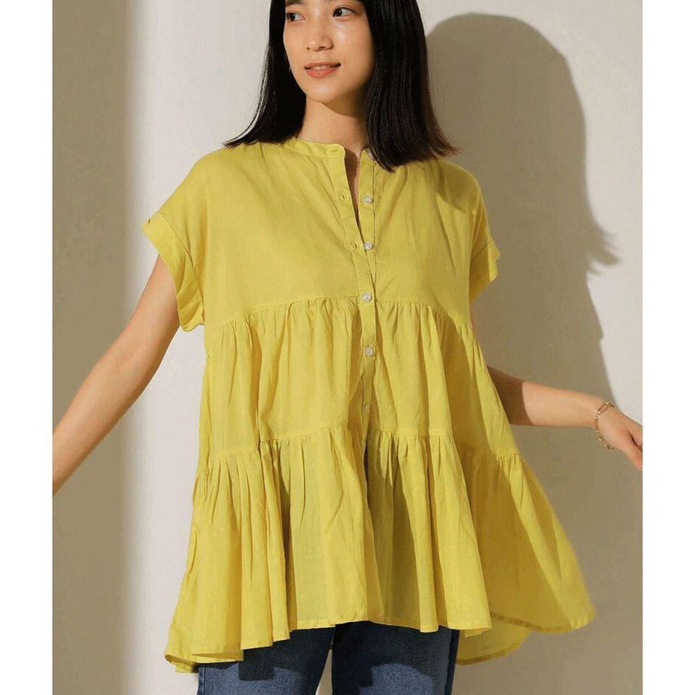 日本 Bou Jeloud - 浪漫蛋糕寬版短袖上衣-黃