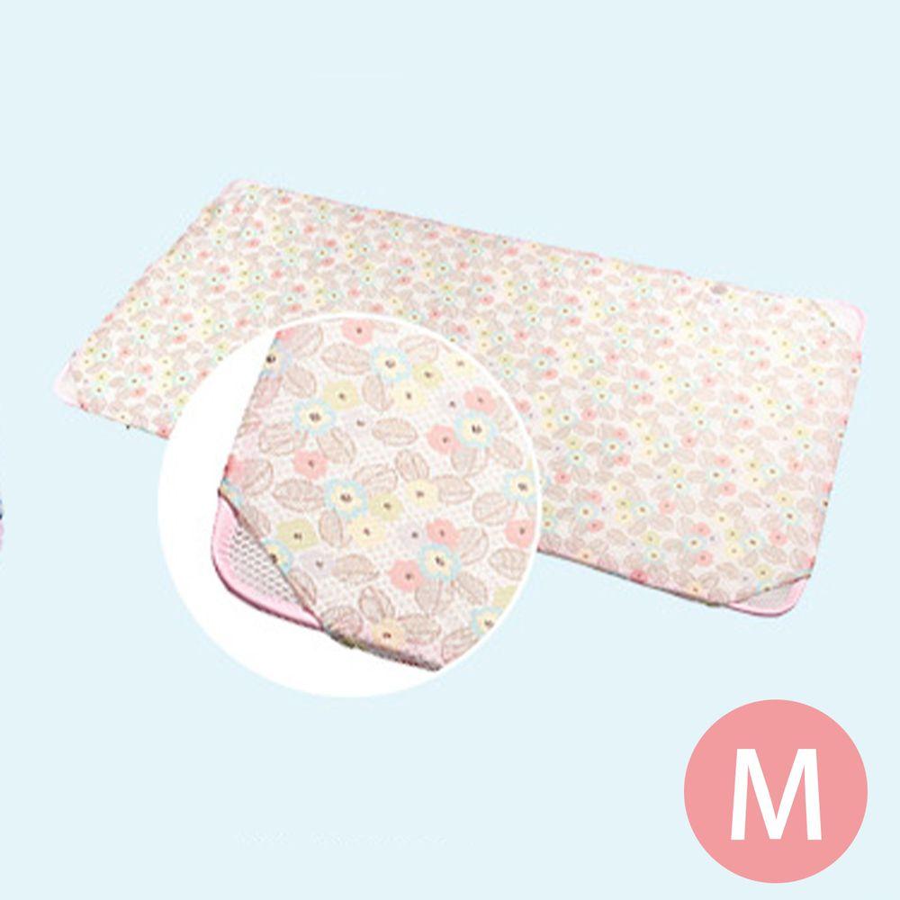 韓國 GIO Pillow - 智慧二合一床套-粉漾花朵 (M號)