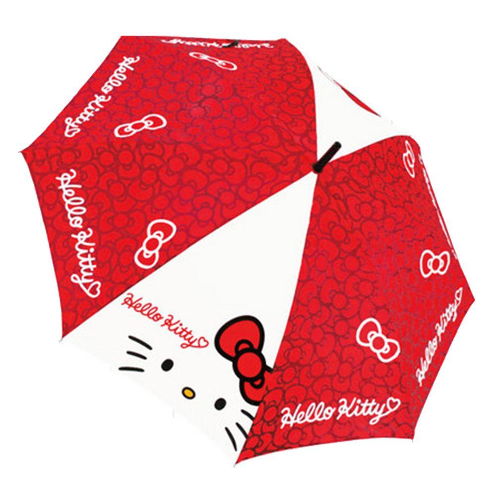 日本代購 - 卡通直傘-紅白Kitty (55cm(130cm以上))