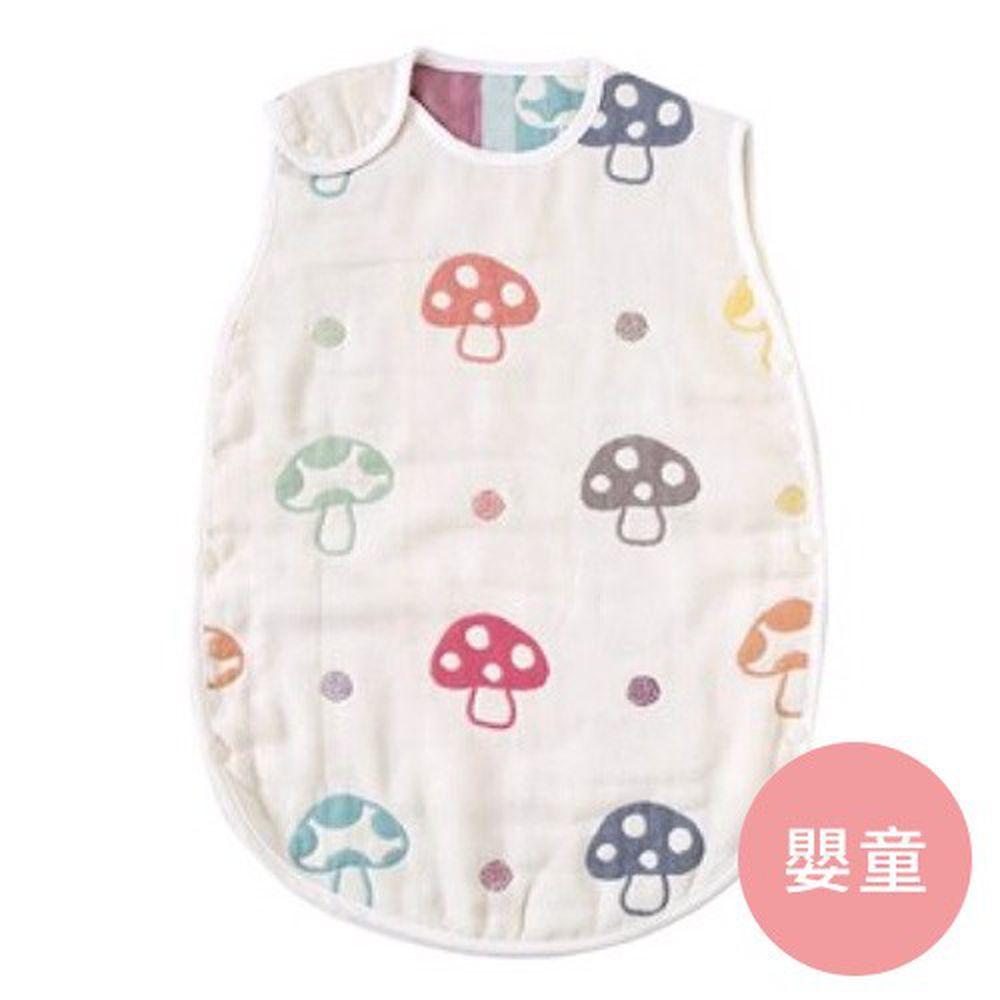 日本 Hoppetta - 六層紗蘑菇防踢背心-嬰童(0~3Y)