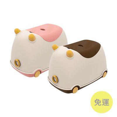 牛BUBU玩具收納車-草莓牛奶+卡布奇諾