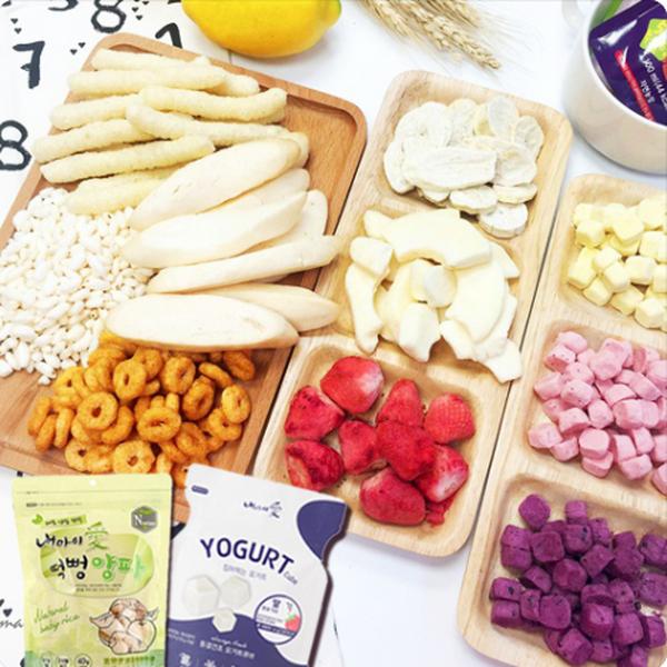 韓國優質寶寶點心♔ 無添加低鈉米餅 / 水果片 / 海苔酥