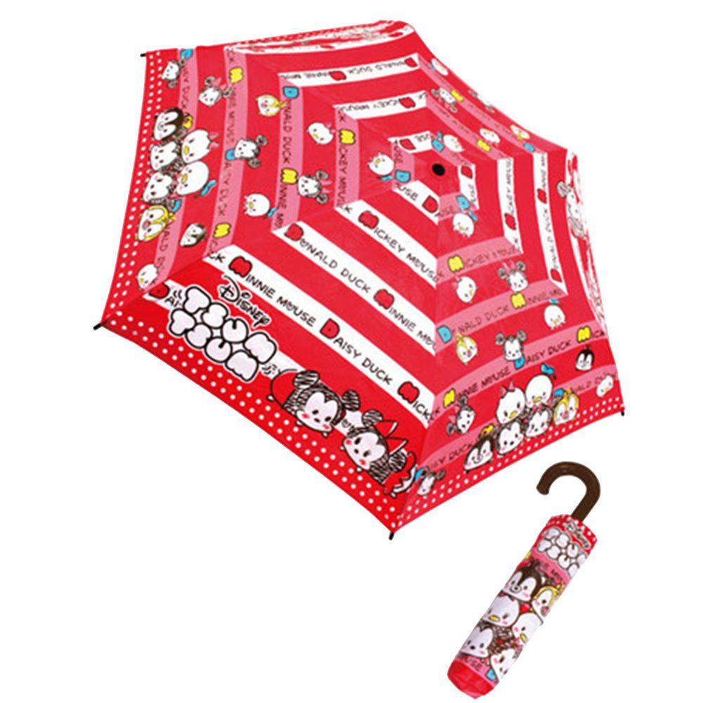 日本代購 - 卡通折疊雨傘-Tsum Tsum-紅白條紋 (53cm(125cm以上))