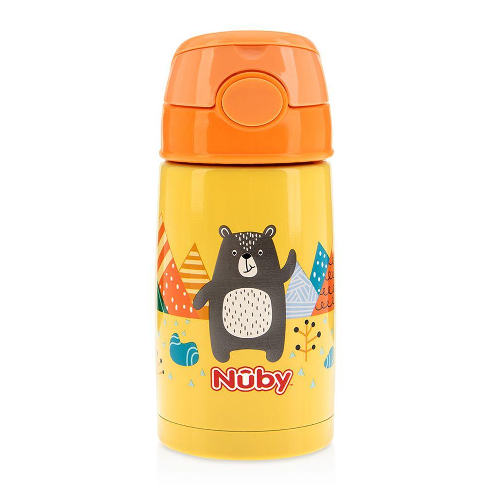 Nuby - 300ML不銹鋼真空隨行杯-探險小熊