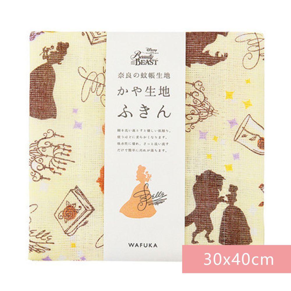 日本代購 - 【和布華】日本製奈良五重紗 方巾-美女與野獸 (30x40cm)
