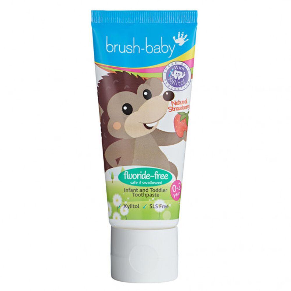 英國 brush-baby - 寶寶無氟木糖醇牙膏(50ml)天然草莓