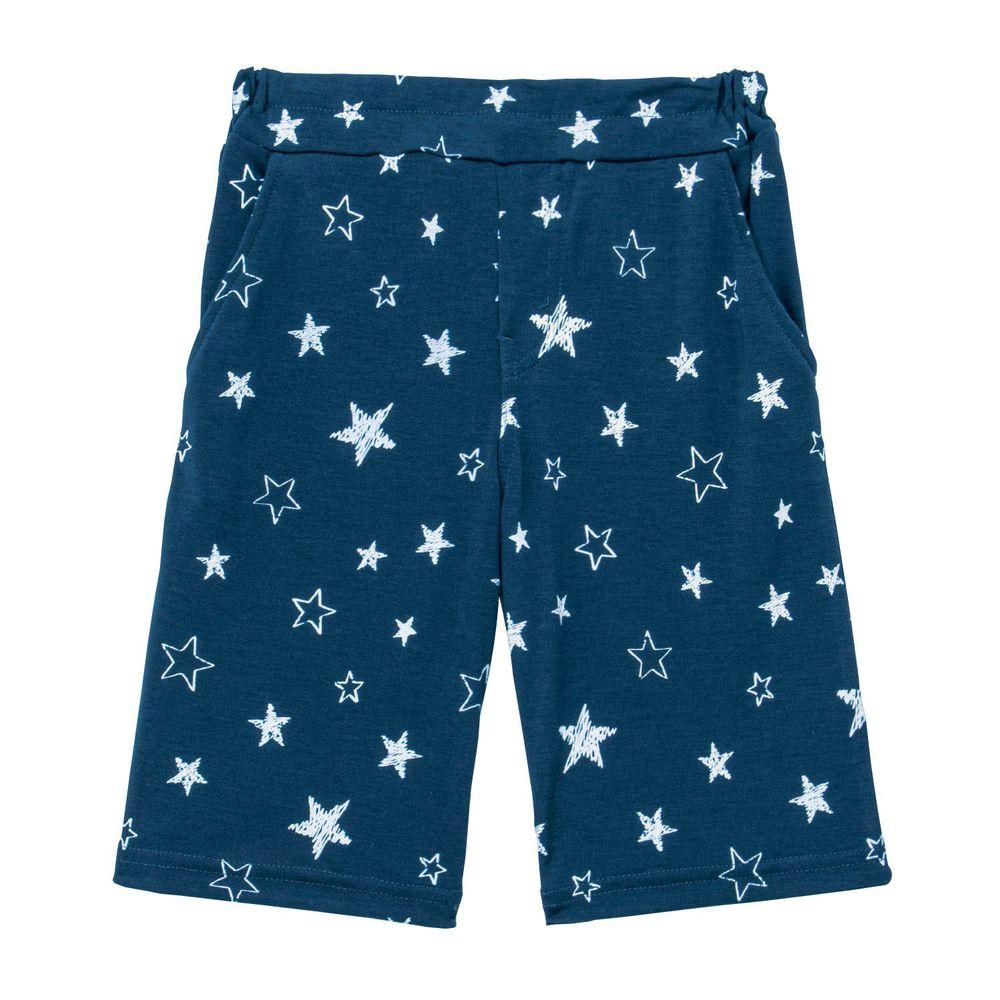日本千趣會 - GITA 接觸冷感五分褲-星星-深藍