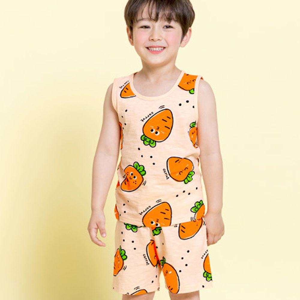 韓國 Maykids - 有機棉細柔無袖家居服-可愛紅蘿蔔