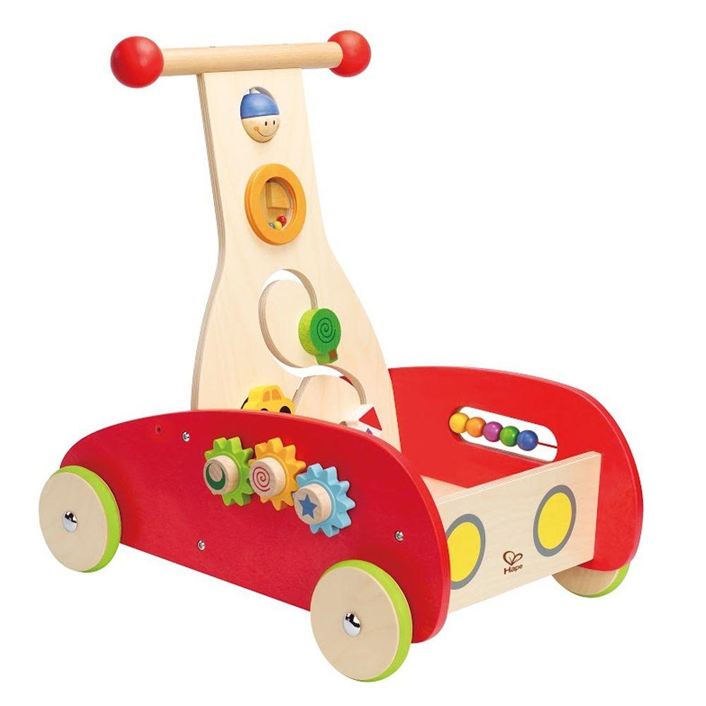Hape - 多功能繽紛木製學步推車(助步車)