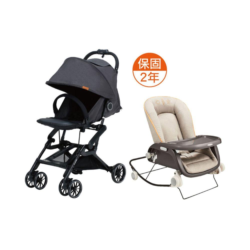 日本 Combi - 捷旅 CFS  嬰兒手推車-prumea SE-遼闊黑-1個月~36個月(體重15kg以下)