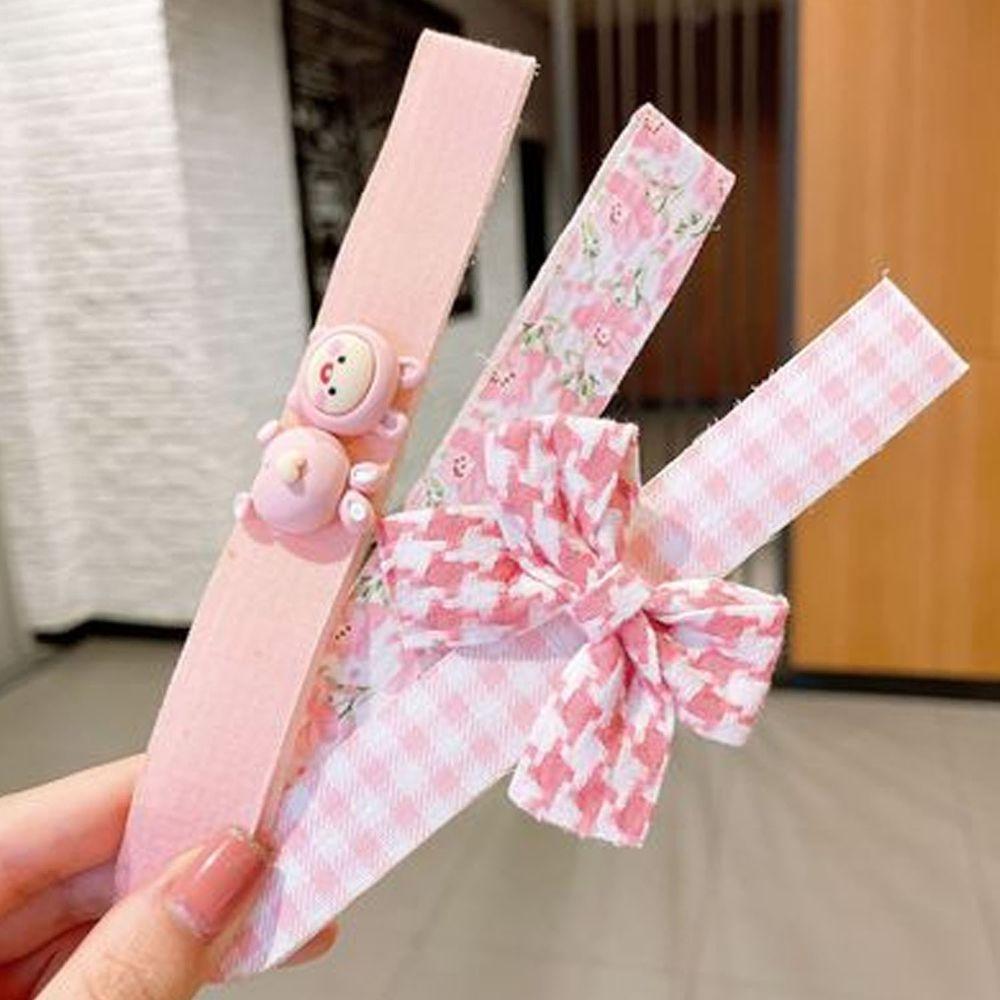 小清新魔術貼無痕髮箍-粉色三入組