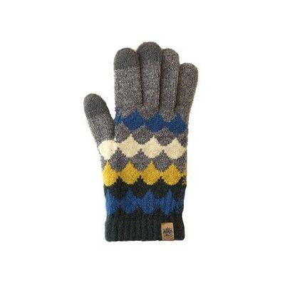 日本製可觸控式保暖手套-大人款-灰菱格紋