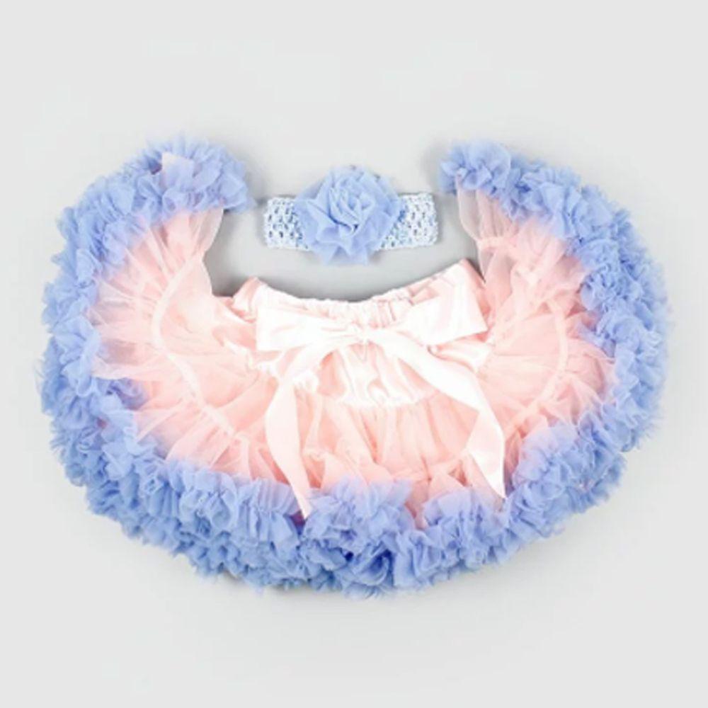 日安朵朵 - 女嬰童雪紡蓬蓬裙-粉紅沙灘
