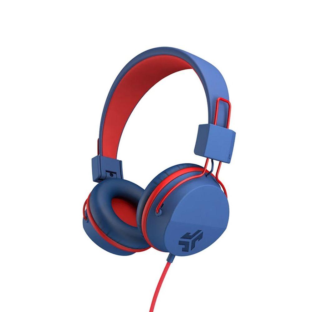 JLAB - JBuddies Studio 兒童耳機-附麥克風-藍紅 (23 x 18 x 8 cm)