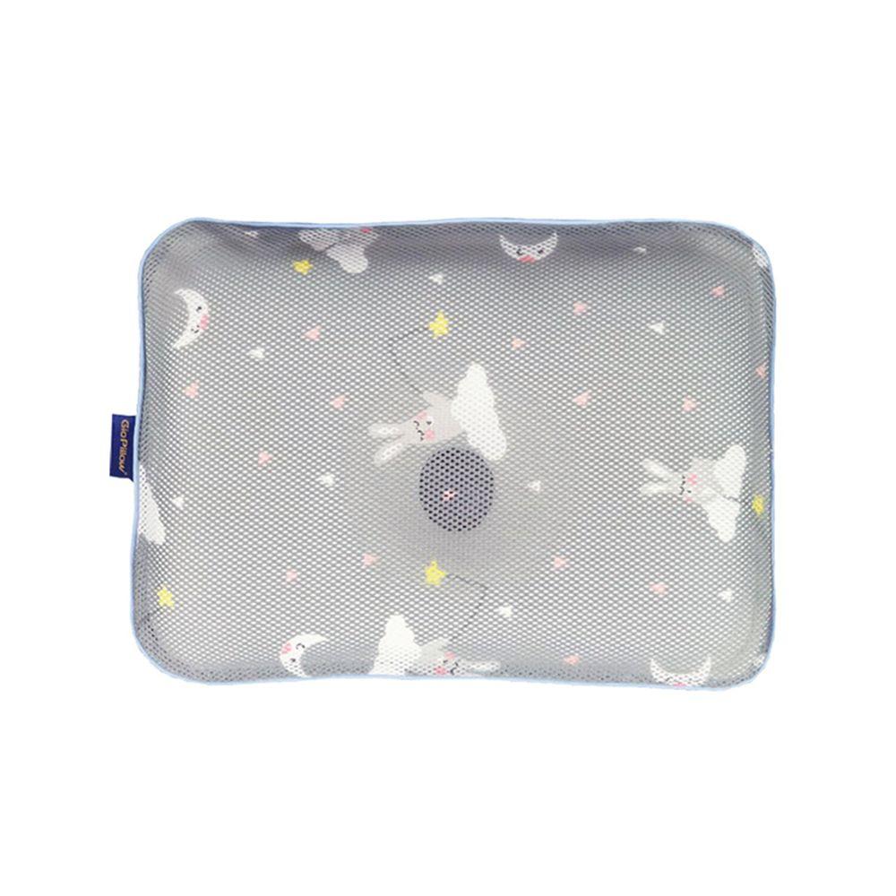 韓國 GIO Pillow - 超透氣護頭型嬰兒枕/防扁頭枕/防蟎枕-單枕套組-晚安兔兔