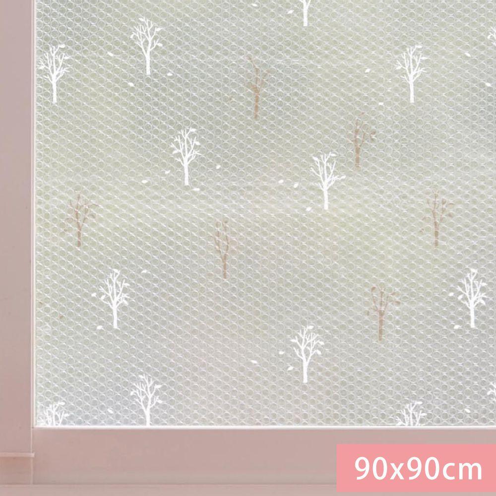 日本千趣會 - 日本製 95%抗UV光影窗貼(氣泡黏貼式)-北歐樹林