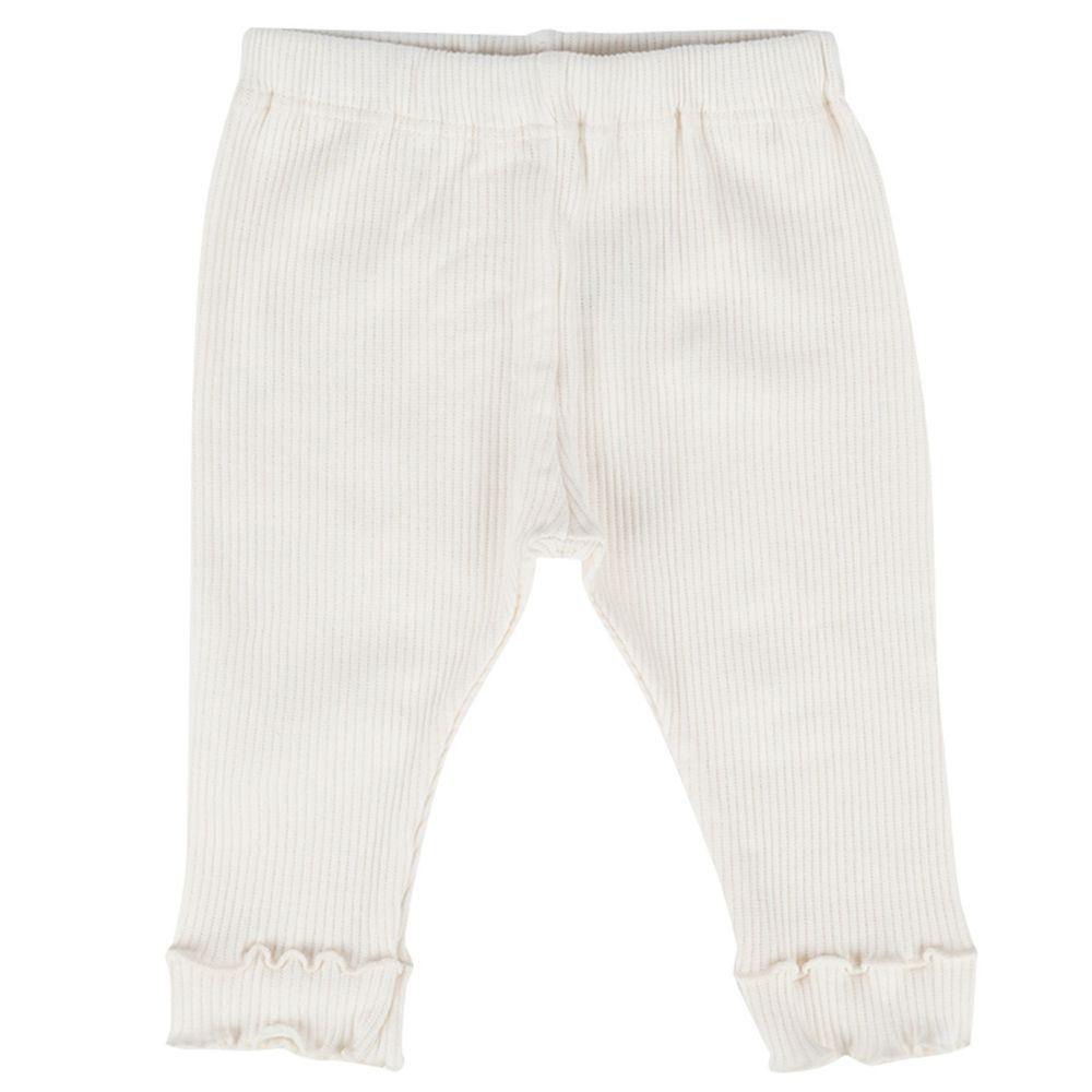 akachan honpo - 女7分素面緊身褲-米白色
