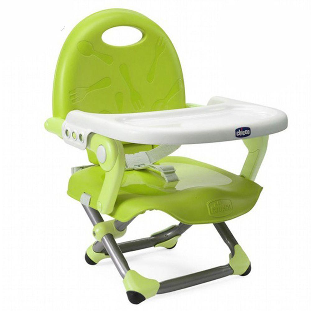 義大利 chicco - Pocket snack攜帶式輕巧餐椅-萊姆綠