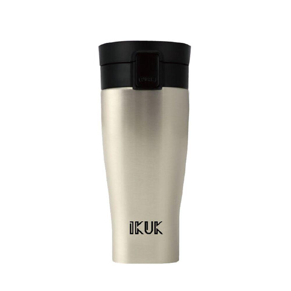IKUK - 真空雙層內陶瓷保溫杯 大彈蓋-迷霧銀-520ML