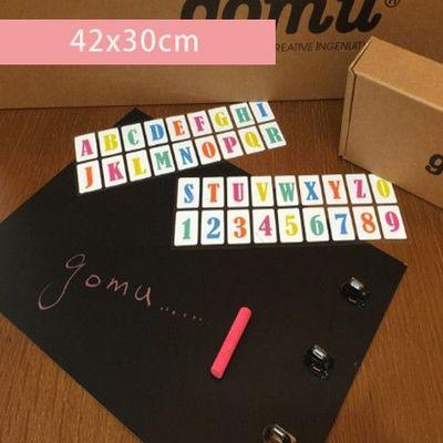 黑板留言貼 (贈字母貼+白色蠟筆) (42*30cm)-1組