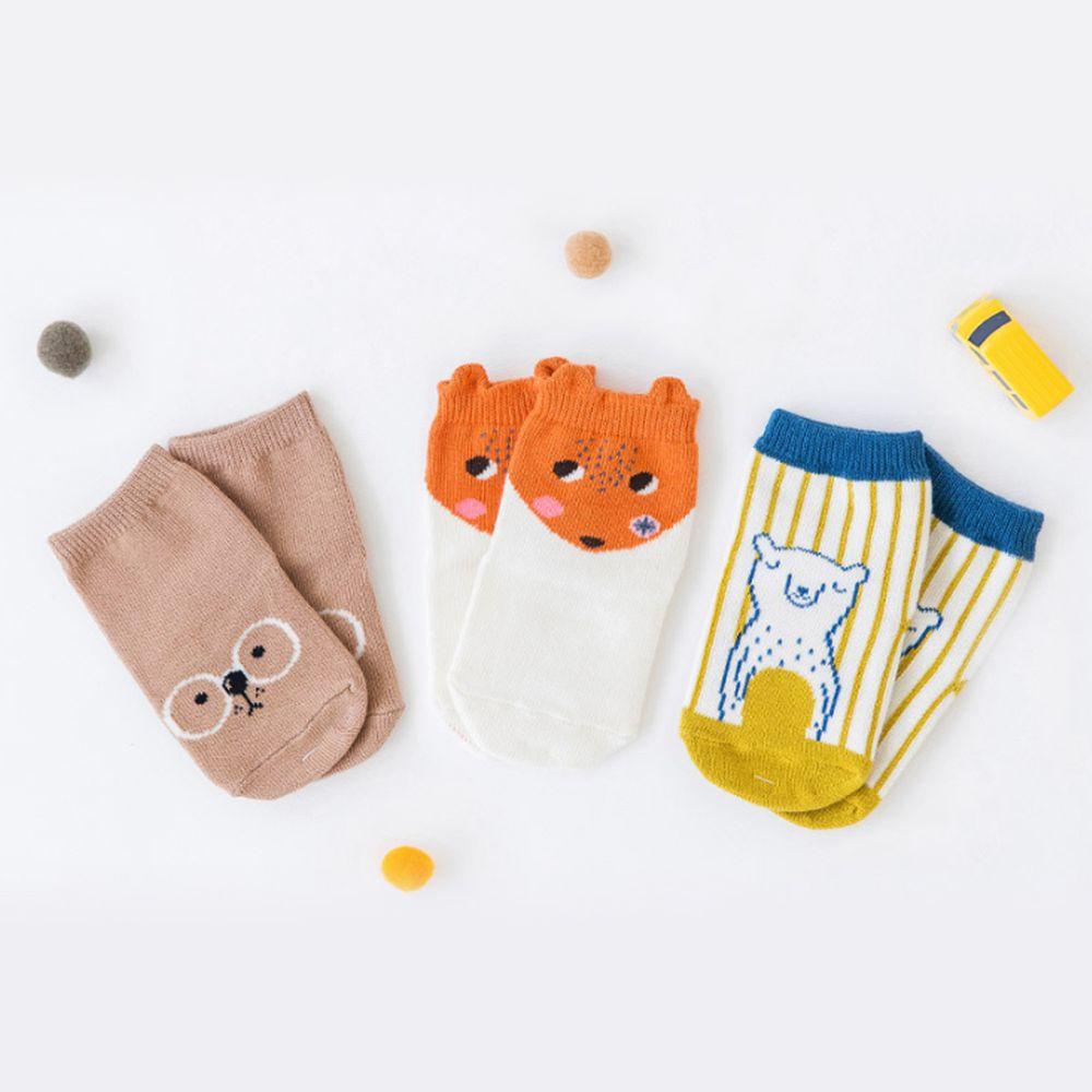 韓國 Cordi-i - 萌萌兒童短襪3入組-可愛動物