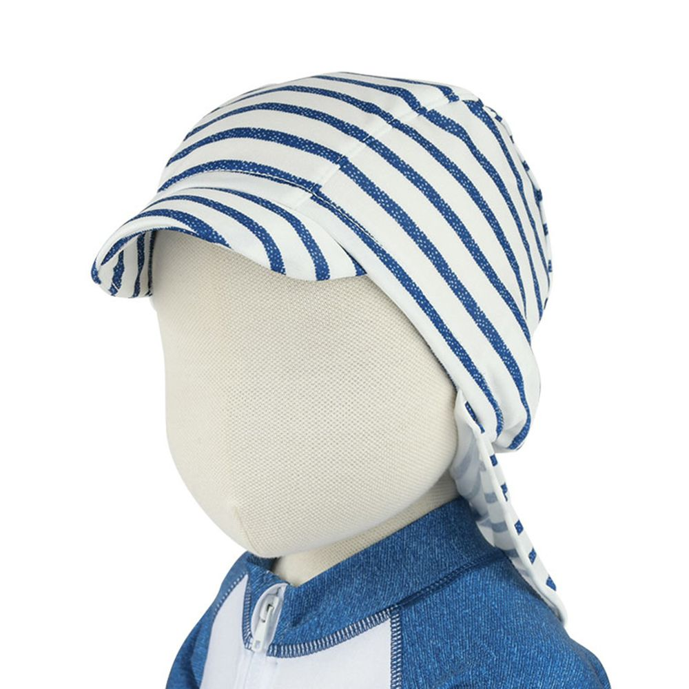 akachan honpo - 泳帽-橫紋-藍色 (42~52cm)