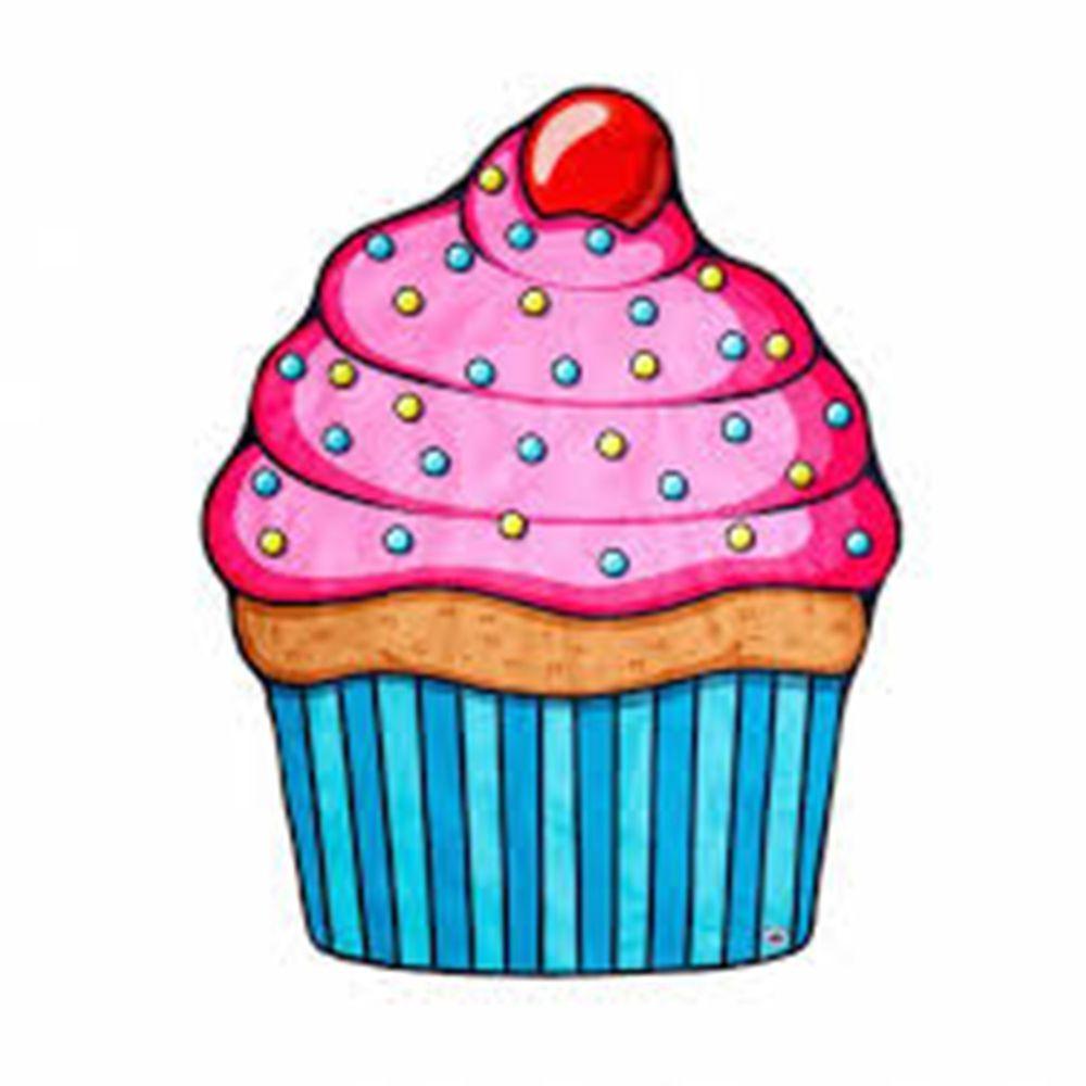 美國 Big Mouth - 造型海灘毯-杯子蛋糕款